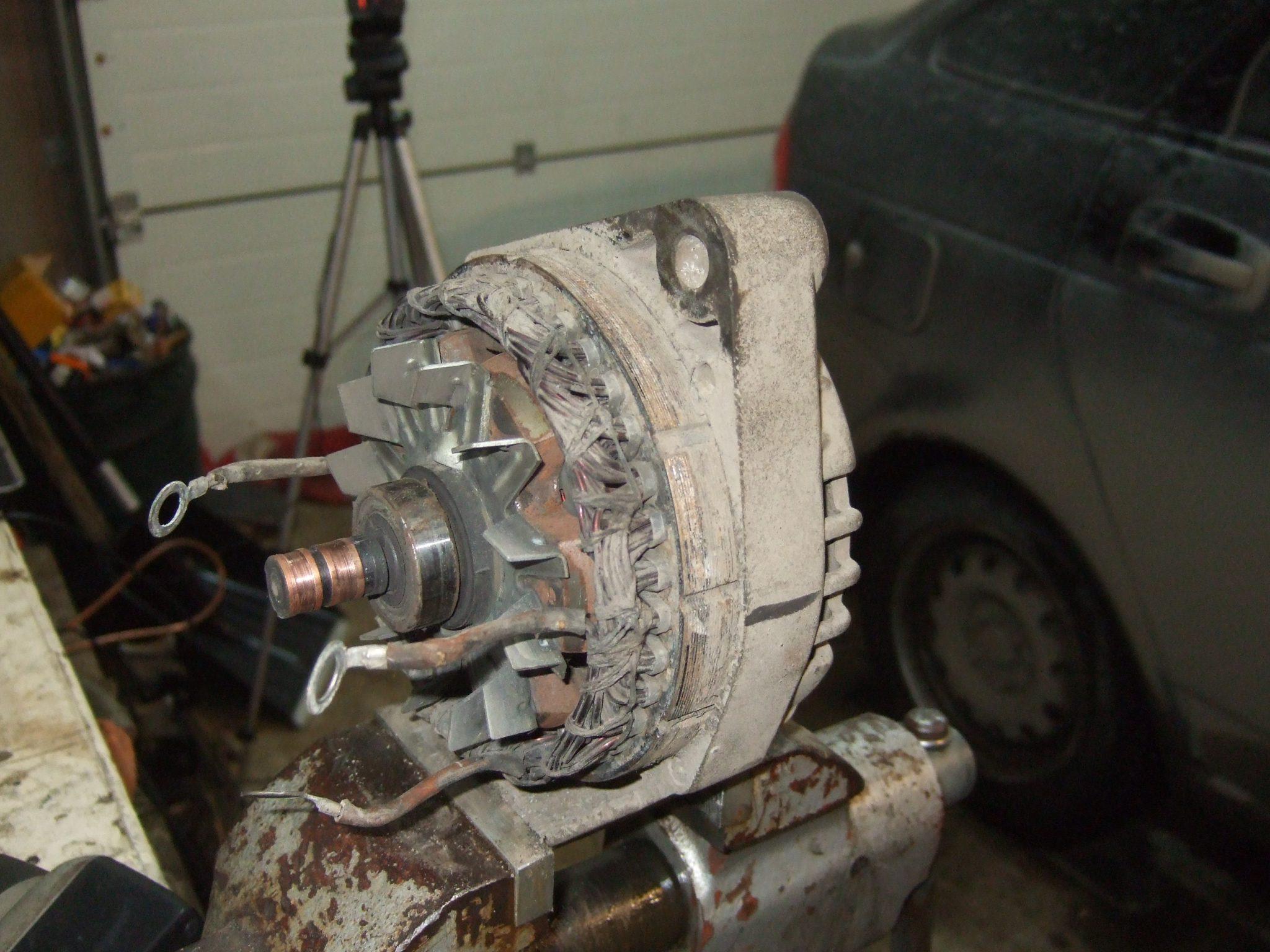 Ремонт генератора приора с кондиционером своими руками 32